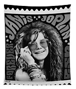 Janis Stamp In A Black And White Vibe Tapestry