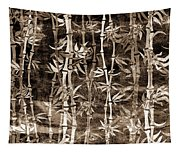 Japanese Bamboo Sepia Grunge Tapestry