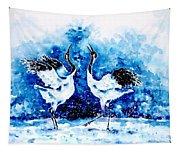 Japanese Cranes Tapestry