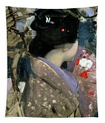Japanese Lady With A Fan Tapestry