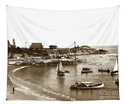 Japanese Tea Garden Glass Bottom Boats At Lovers Point Pacific Grove California Circa 1907 Tapestry