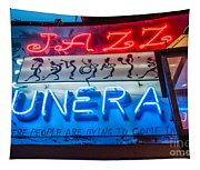 Jazz Funeral And Lamp Nola Tapestry
