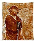 Jedi Master Yoda Digital From Original Coffee Painting Tapestry