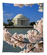 Jefferson Memorial Cherry Trees Tapestry