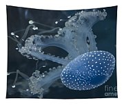 Jellyfish In Blue Tapestry