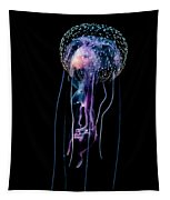 Jellyfish  Pelagia Noctiluca  With Fish Tapestry