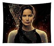 Jennifer Lawrence As Katniss Everdeen Tapestry
