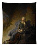 Jeremiah Lamenting The Destruction Of Jerusalem Tapestry
