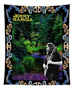 Jerry At Psychedelic Creek Tapestry