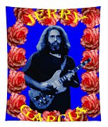 Jerry In Blue With Rose Frame Tapestry