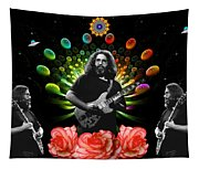 Jerry Spacepods Triple Jerry Ufo Roses Under Cosmic Sun Tapestry
