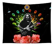 Jerry Spacepods Ufo Roses Under Cosmic Sun Tapestry