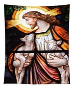 Jesus And Lambs Tapestry