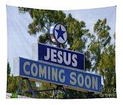Jesus Coming Soon Tapestry