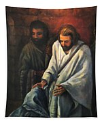 Jesus Healing Beggar Tapestry