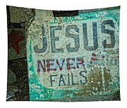 Jesus Never Fails Tapestry