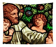 Jesus With Children Tapestry
