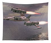 Jet Flying Low Tapestry
