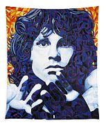 Jim Morrison Chuck Close Style Tapestry