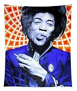 Jimi Hendrix-orange And Blue Tapestry