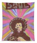 Jimi Hendrix Pastel Tapestry
