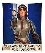 Joan Of Arc War Stamps Poster 1918 Tapestry