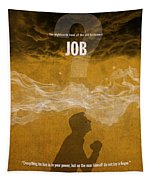Job Books Of The Bible Series Old Testament Minimal Poster Art Number 18 Tapestry