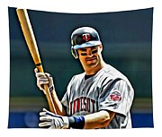 Joe Mauer Painting Tapestry