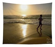 Jogging At Sunrise By Kaye Menner Tapestry