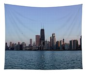 John Hancock Building And Chicago Il Skyline Tapestry