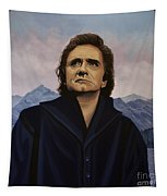 Johnny Cash Painting Tapestry
