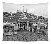 Jolly Holiday Cafe Main Street Disneyland Bw Tapestry