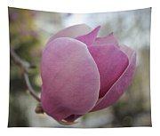Joyful Pink Magnolia Tapestry