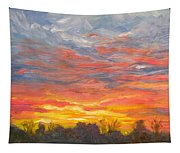 Joyful Sunset Tapestry