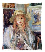Julie Manet With A Straw Hat Tapestry