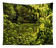 July Tranquil Indian Lake Tapestry