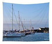 June Morning - Lyme Regis Harbour Tapestry