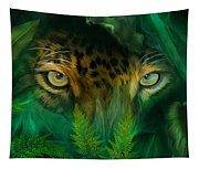 Jungle Eyes - Jaguar Tapestry
