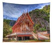 Jungle Temple V2 Tapestry