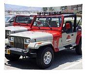 Jurassic Park Jeeps Tapestry