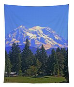 Just Over The Hill Mt. Rainier Tapestry