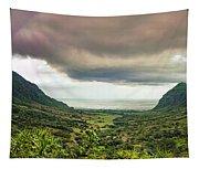 Kaaawa Valley Panorama Tapestry