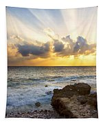 Kaena Point State Park Sunset 2 - Oahu Hawaii Tapestry