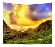 Kahana Valley Sunset Tapestry