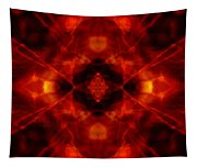 Kaleidoscope Red Tapestry