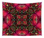 Kaleidscope Made From Image Of Coleus Plant Tapestry
