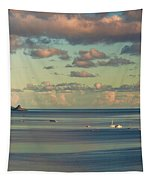 Kaneohe Bay Panorama Mural 3 Of 5 Tapestry