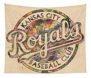 Kansas City Royals Logo Vintage Tapestry