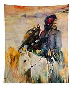 Kasak With Falcon Tapestry