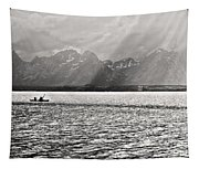 Kayakers On Jackson Lake Tapestry